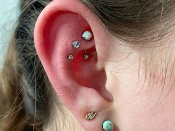 double rook piercing