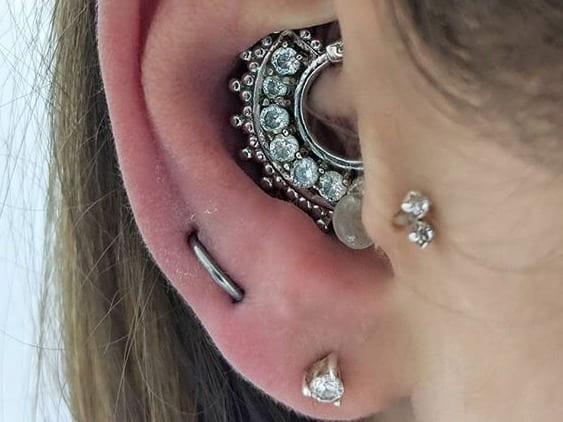 pierced earring