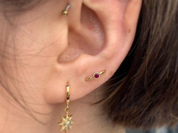 orbital piercing ear