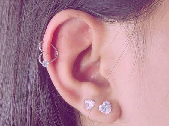 earlobe heart