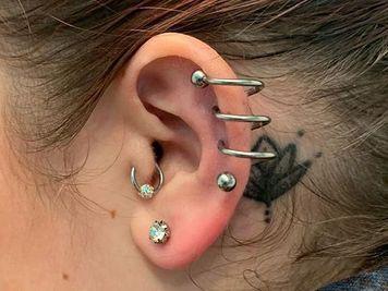 spiral piercing healing