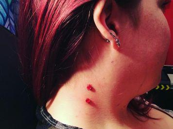 vampire bites dermal piercing