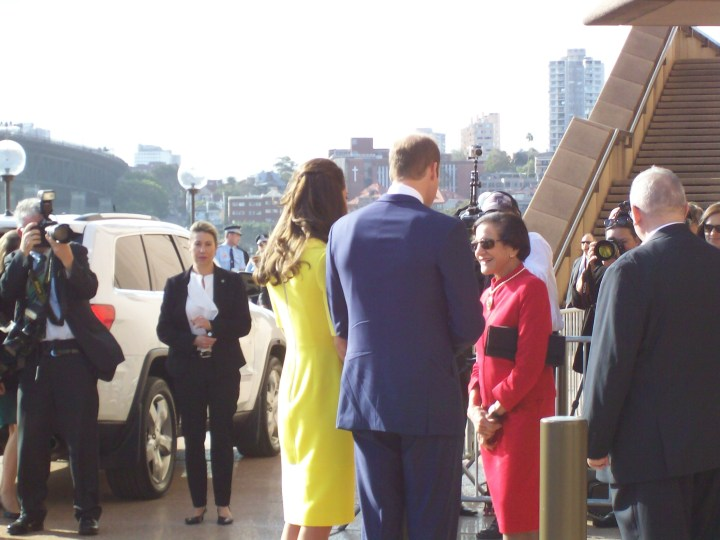 The Royal Couple at the Opera House. © 2014 Carolyn Cash