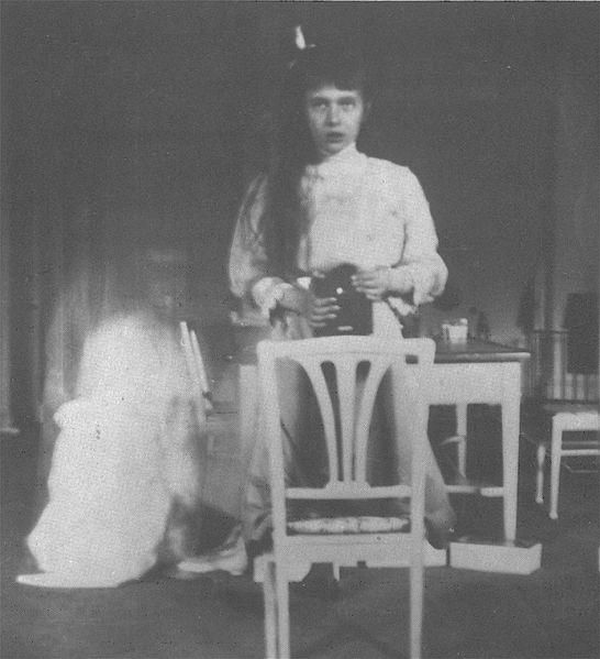 Grand Duchess Anastasia's self portrait in 1914.