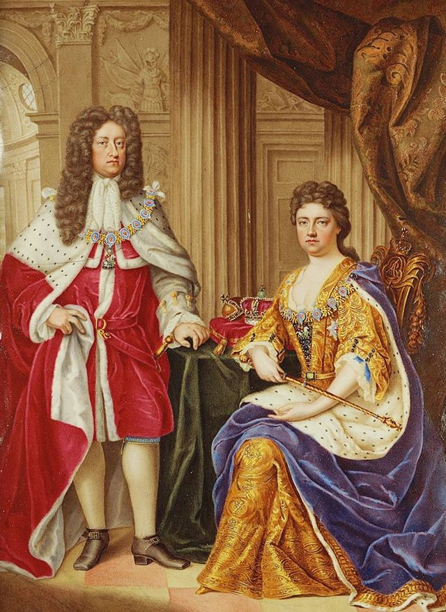 Queen Anne and her husband, Prince George of Denmark