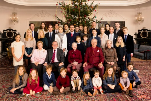 The Danish Royal Family celebrating Christmas in 2014.