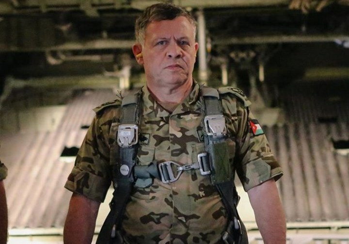 King Abdullah II of Jordan: Ready for action.