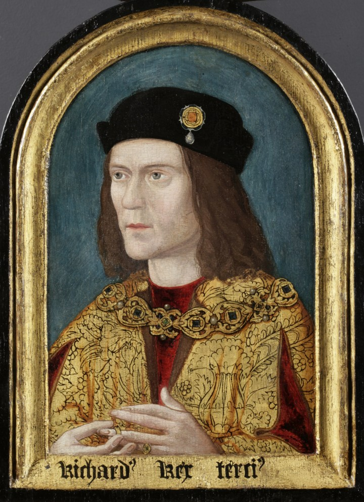 Richard III portrait in the Society of Antiquaries. © Society of Antiquaries of London Courtesy University of Leicester