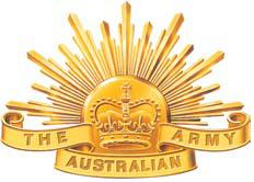 "The ""Rising Sun"", emblem of the Australian Army, used since 1991."