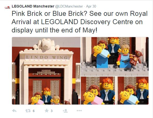 Will it be a boy or a girl? Royal Baby display at Legoland Manchester