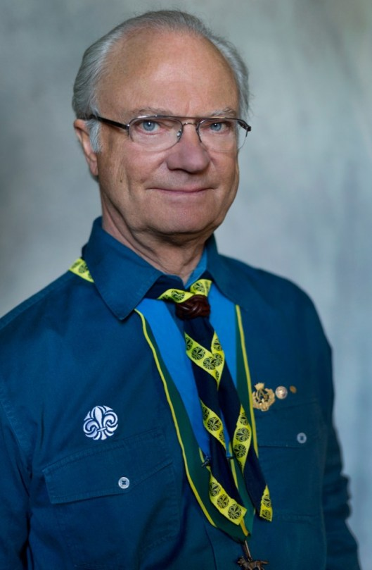 Scout leader King Carl XVI Gustaf Photo: Kate Gabor, royalcourt.se