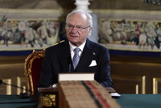 King Carl XVI Gustaf-Special Meeting-coronavirus