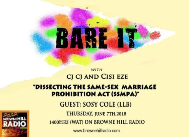 "Poster advertises ""Bare It"""