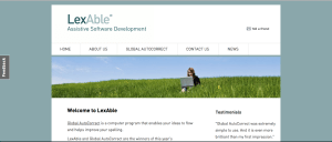 The LexAble website as it looks now.