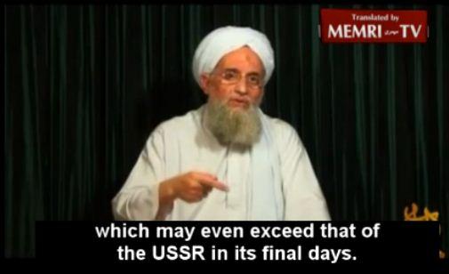 Ayman_Al_Zawahiri_US_Weaker_Than_Russia_Was