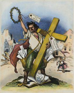 Cross of gold speech cartoon