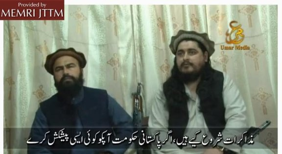 Ehsanullah Ihsan appears on the video shaking hands with Waliur Rehman and Hakimullah Mehsud