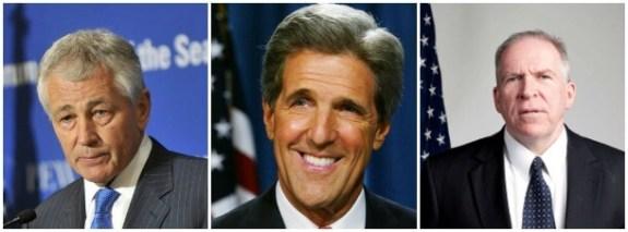 Hagel Kerry and Brennan