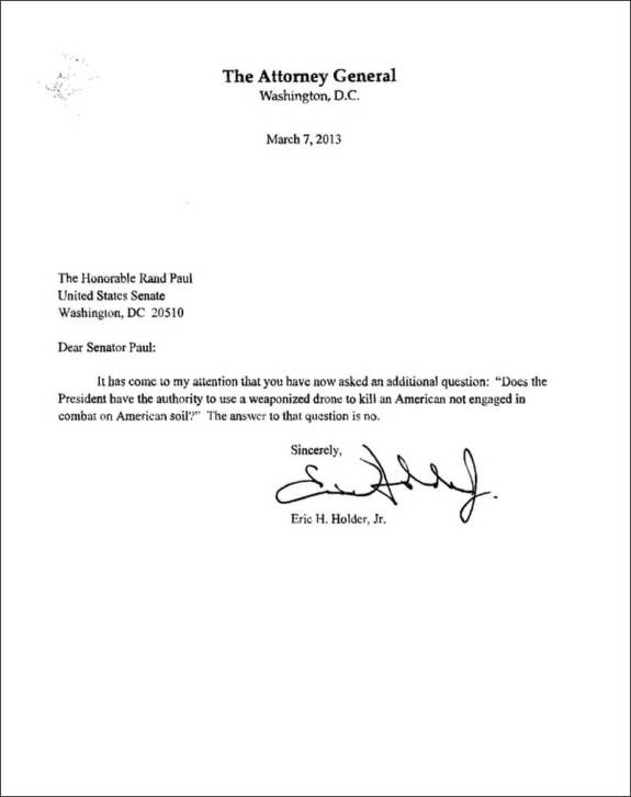 holder letter the answer is no