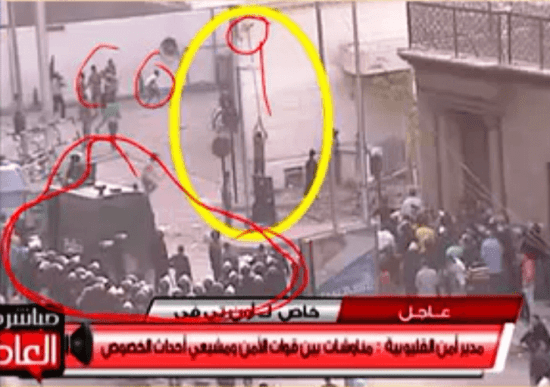 Egyptian Security watch as church destruction occurs