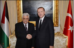 Mahmoud Abbas meets Erdogan Turkish prime minister April 22 2013