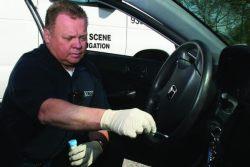 DNA Swab at crime scene