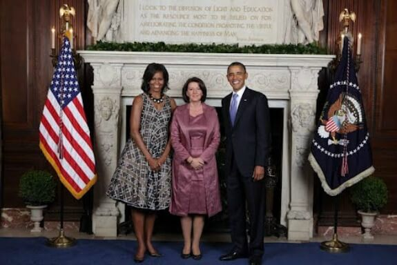 Jahjaga with the Obamas in Sept 2011
