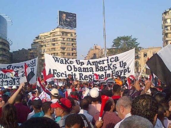 Wake Up America Obama Backs Up A Fascist Regime in Egypt