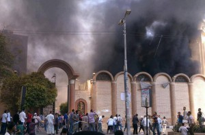 St.-George-Church-in-Sohag-one-of-more-than-two-dozen-Egyptian-church-buildings-attacked-on-Wednesday-Aug.-14.-Watani-photo-300x197