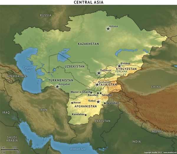 Central Asia Locator