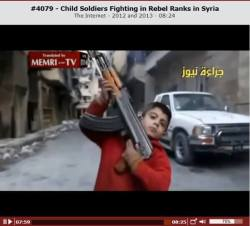 Child Soldiers Fighting in Rebel Ranks in Syria