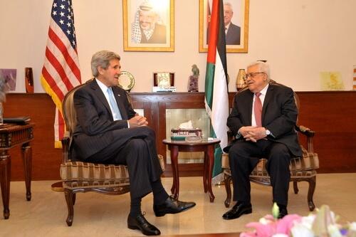 John Kerry and Mahmoud Abbas US State Dept