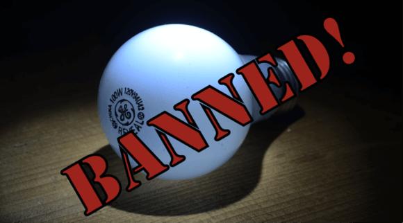 banned incandescent light bulbs