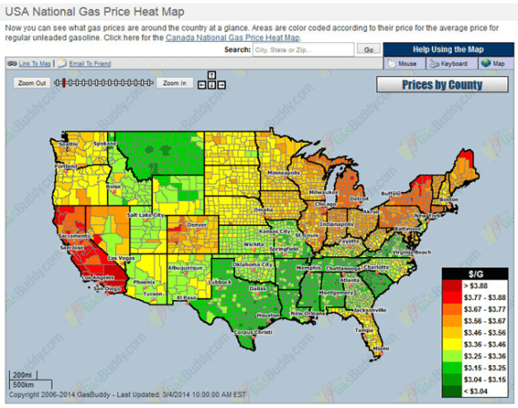 CA-gas-prices-heat-map