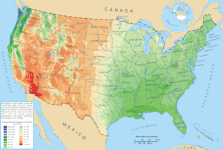 Average precipitation in the lower 48 states of the USA-460x309