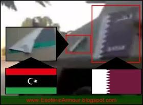 Qatari Flag and flag of NLA of Libya