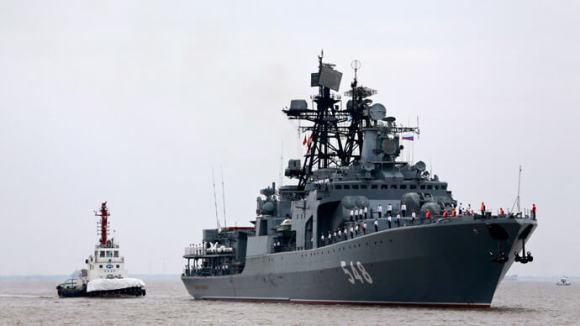 Russian anti-submarine destroyer Admiral Panteleyev