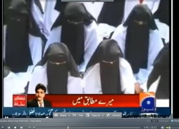 Female students at the Jamia Hafsa madrassa