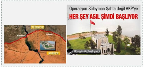 2 The location of the tomb of Suleyman Shah
