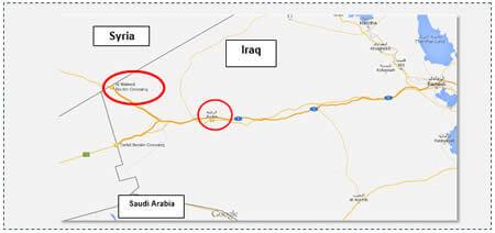 1 Al-Waleed crossing between Iraq and Syria