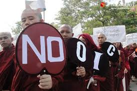 Brave Burmese monks 2013 protest the Organization of Islamic Cooperation