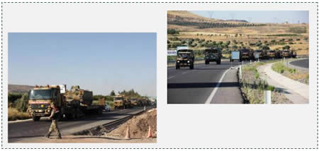6 The Turkish Army reinforcing its troops along the border with Syria