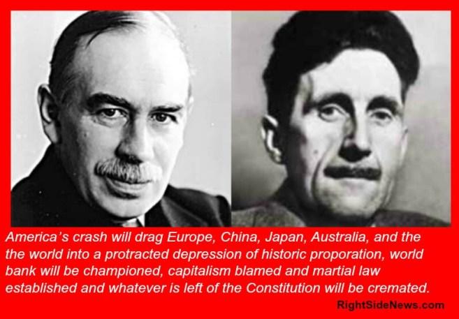 The Orwellian-Keynesian Path by Nelson Hultberg