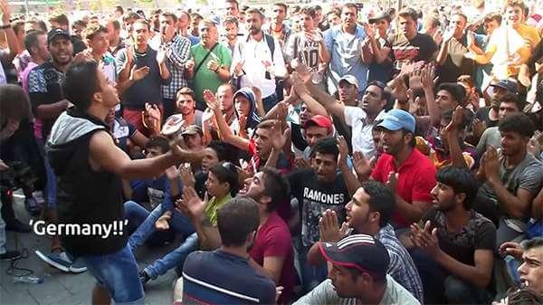 Migrant Men Budapest Hungary