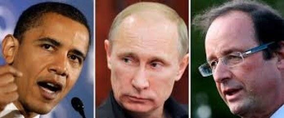 Obama Putin Hollande