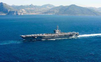 USS Eisenhower Strait of Gibraltar