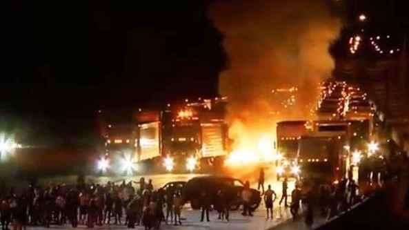 Charlotte burning