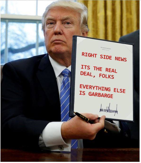 Trump Right Side News Executive Order