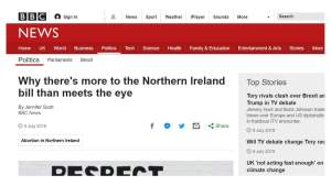 "BBC calls abortion amendment ""exciting titbit"""