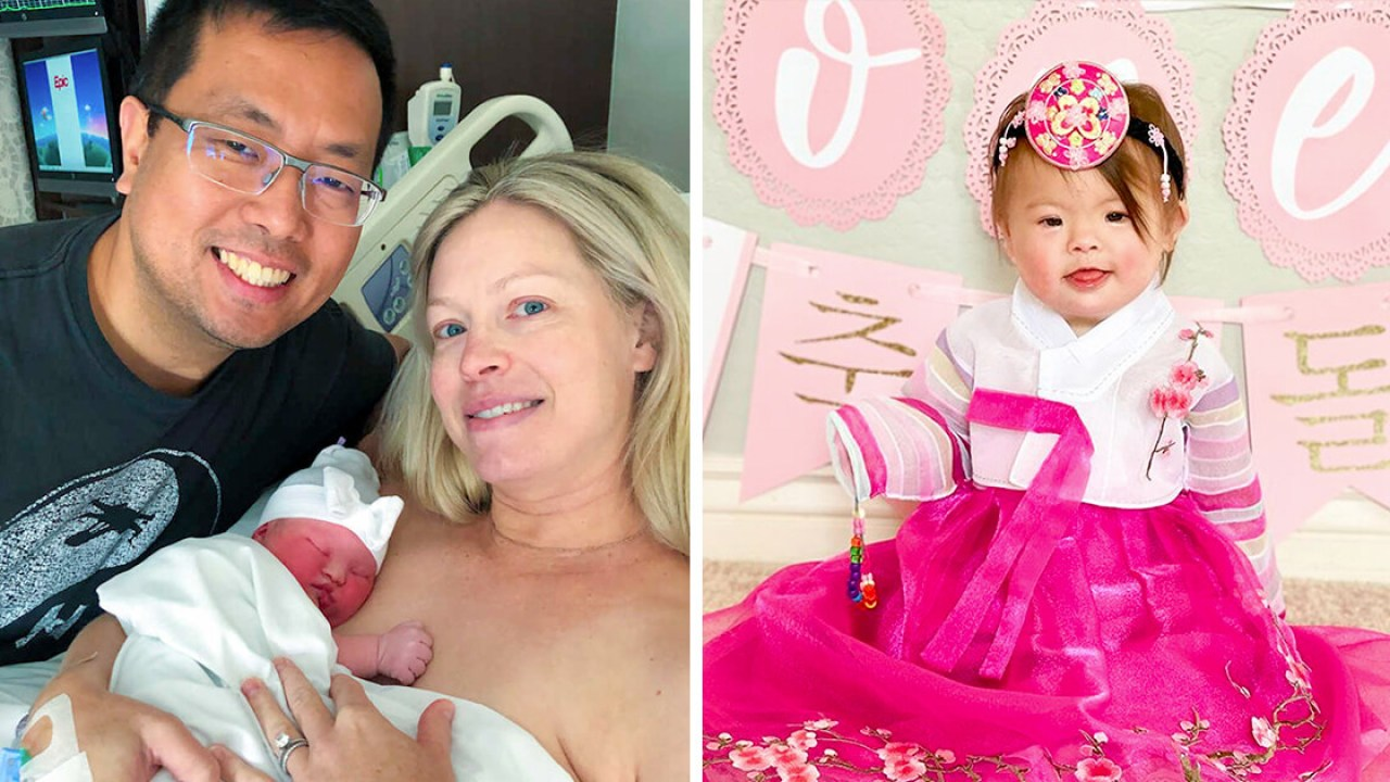 Baby girl with Down's syndrome, given just 10% chance of survival,  celebrates first birthday